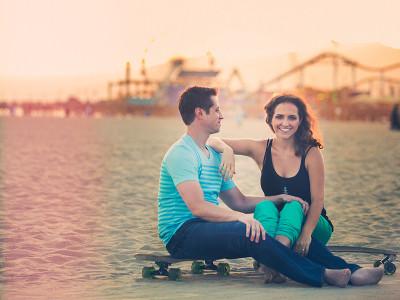 Santa Monica Skateboarding Engagement