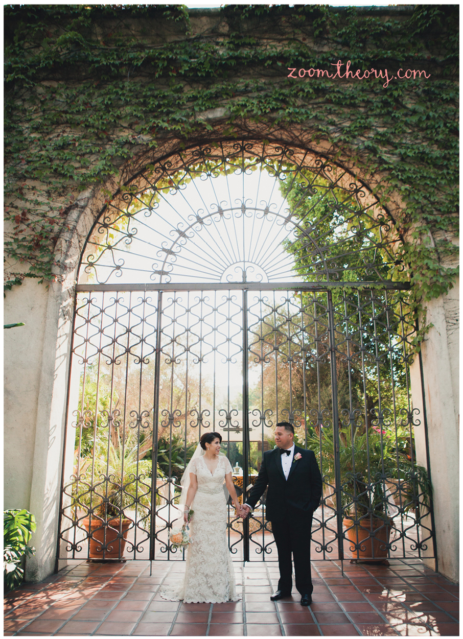 Los Angeles River And Garden Center Wedding Zoom Theory