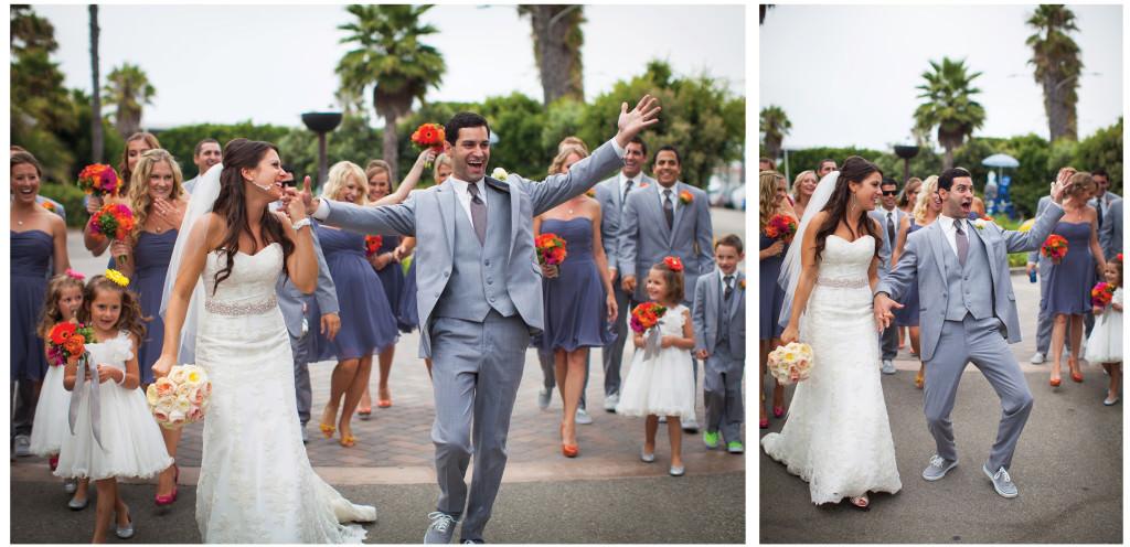 colorful beach portofino wedding 10