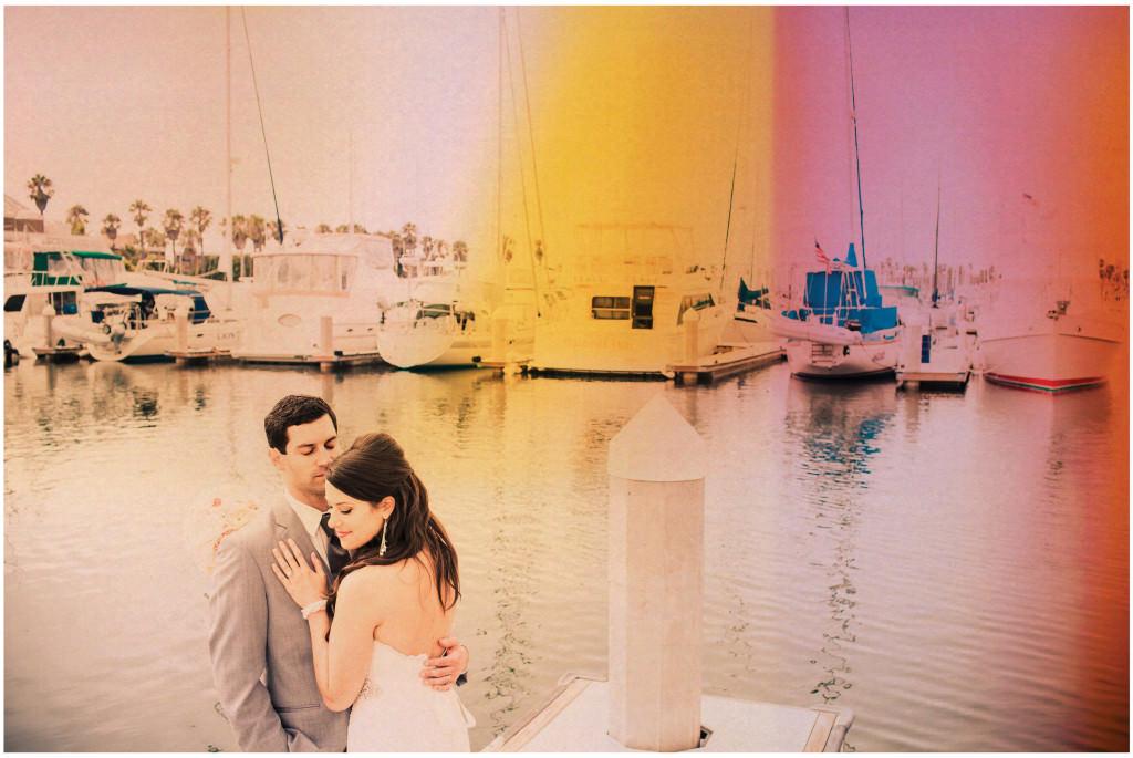 colorful beach portofino wedding 11