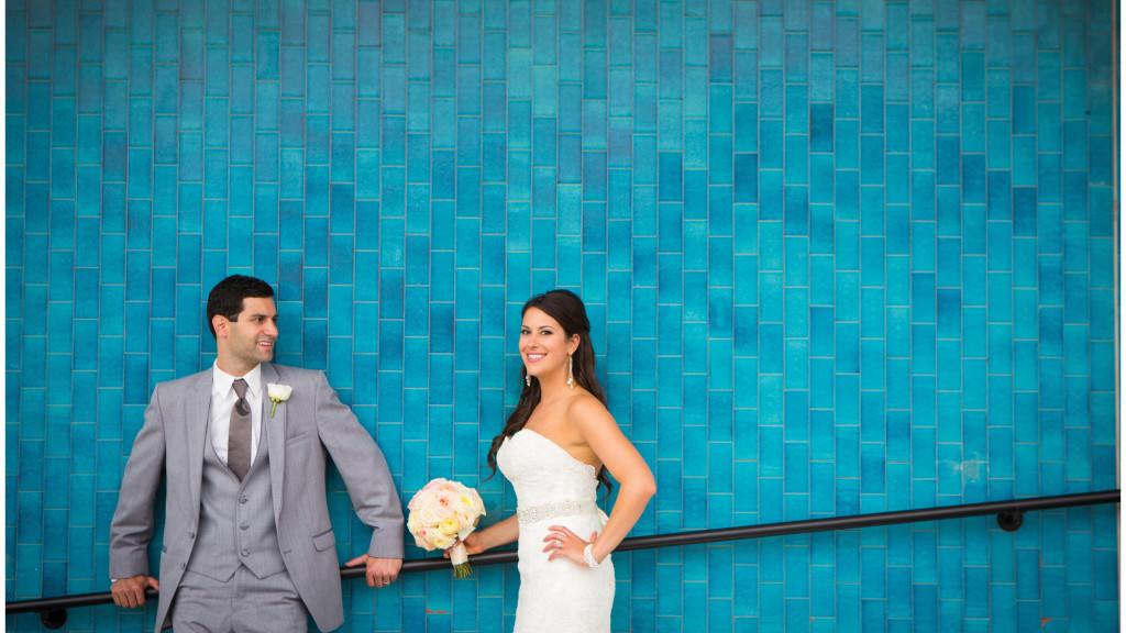 colorful beach portofino wedding 15