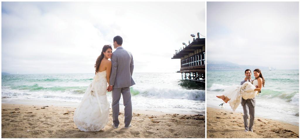 colorful beach portofino wedding 16