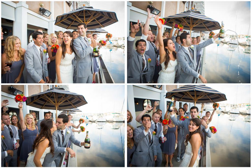 colorful beach portofino wedding 18