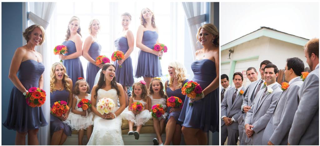 colorful beach portofino wedding 5