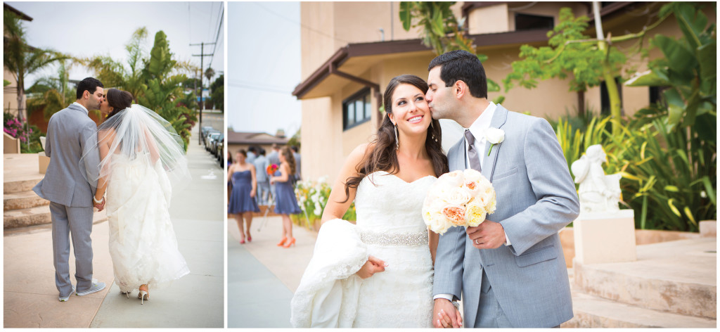 colorful beach portofino wedding 9