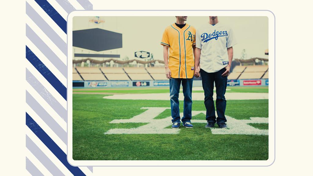 Dodger stadium engagement
