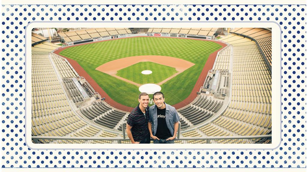 Dodger stadium engagement 2