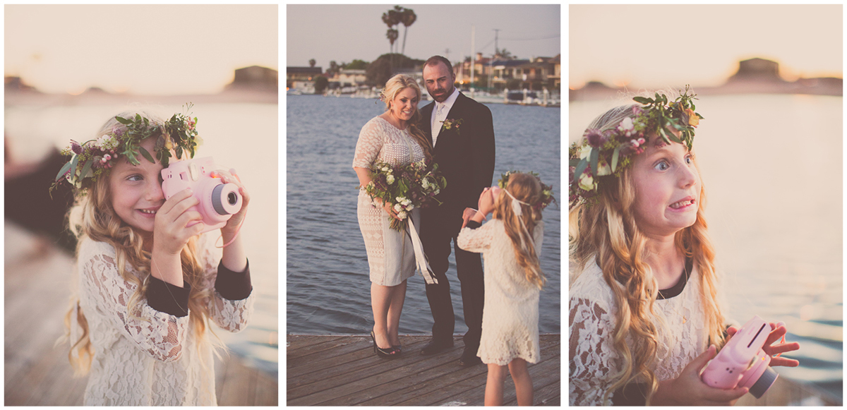 Zoom Theory Wedding Long Beach | Instax Mini 8 Pink Polaroid | Flower girl