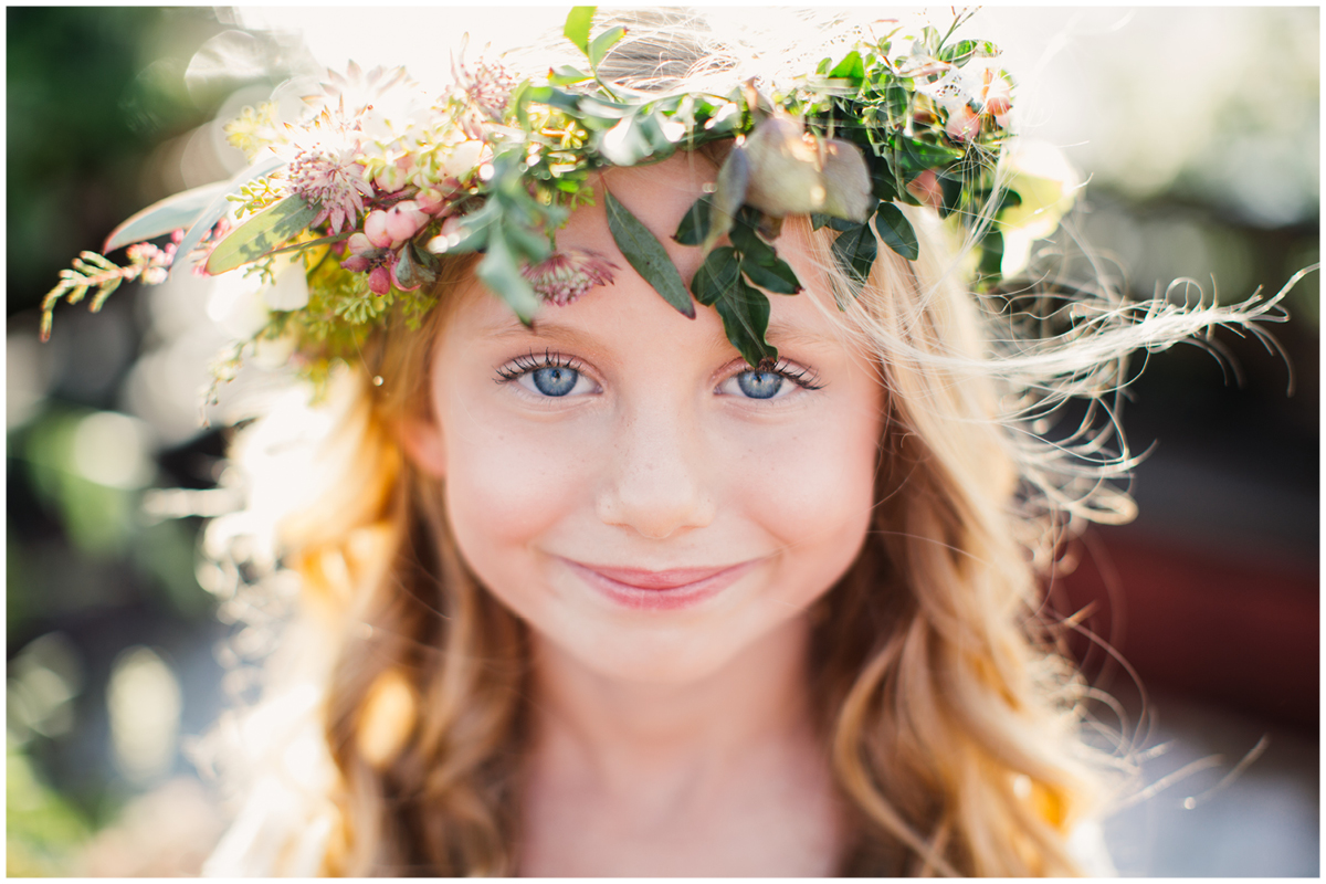Zoom Theory Wedding Long Beach | Flower Girl Crown | Honey and Poppies