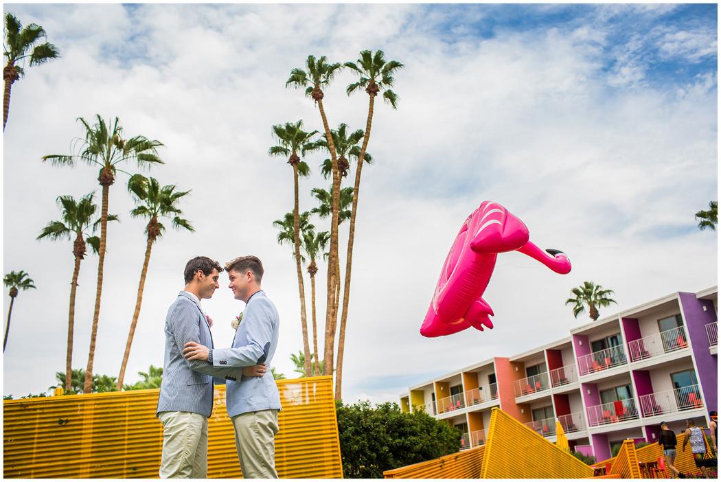 Saguaro Palm Springs Gay Wedding Zoom Theory16