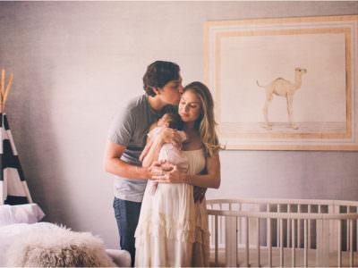 Huntington Beach Home Newborn Portraits